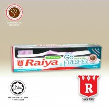 Raiya Go Fresher Natural Mint Toothpaste with Toothbrush 160gm
